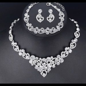 Silver Plated Luxury Jewelry Set